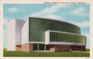 Oklahoma Lawton McMahon Memorial Auditorium Curteich