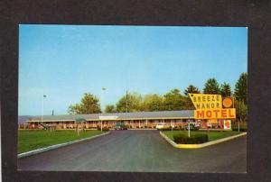 PA Breeze Manor Motel Breezewood Pennsylvania Penn Postcard
