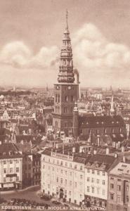 Kobenhavn Sct Nicolai Kirkebyoning Spectacular Denmark Aerial Postcard