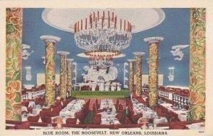 Louisiana New Orleans The Roosevelt Hotyel Blue Room 1952