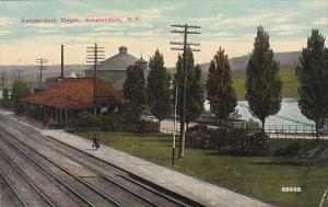 Amsterdam Railroad Depot Amsterdam New York 1912