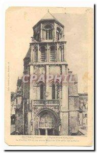 Poitiers Old Postcard L & # 39eglise Saitne Radegonde