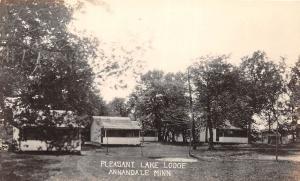 D96/ Annandale Minnesota Mn Real Photo RPPC Postcard c1930s Pleasant Lake Lodge