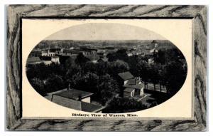 1913 Bird's Eye View of Waseca, MN Postcard