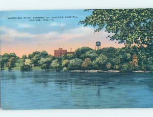 Linen HOSPITAL SCENE Portage Wisconsin WI d5774