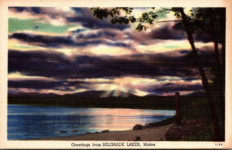 Maine Greetings From Belgrade Lakes