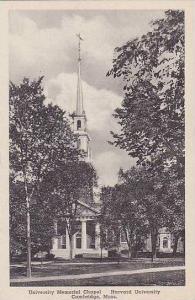 Massachusetts Cambridge Harvard University Memorial Chapel Albertype