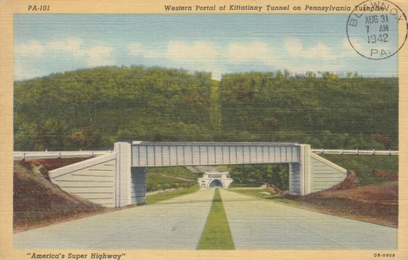 PENNSYLVANIA , 1942 ; Western Portal at Kittatinny Tunnel on PA Turnpike