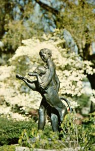 South Carolina Murrels Inlet Brookgreen Gardens Boy and Panther