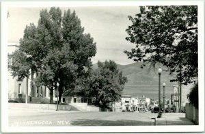 WINNEMUCCA, Nevada RPPC Real Photo Postcard Downtown / Street Scene 1940s Unused