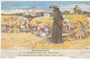 Liebig Trade Card s1491 Erasmus No 5 Te Anderlecht Bij Brussel