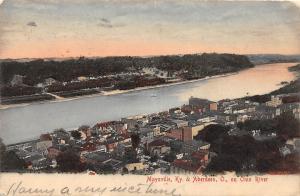 D21/ Aberdeen Ohio Maysville Kentucky Ky Postcard Birdseye View Ohio River 1908