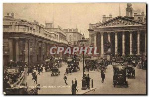 Great Britain Great Britain Old Postcard London The bank and Royal Exchange (...