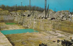 Indiana Limestone Quarry near BEDFORD, Indiana, 40-60s