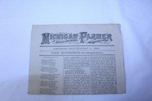 Vintage 1885 Michigan Farmer 4 Page Journal Supplement