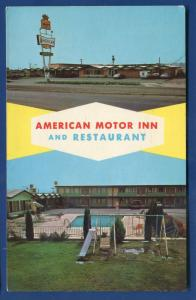 American Motor Inn Restaurant Lordsburg New Mexico nm chrome postcard