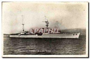 Modern Postcard Boat War cruiser Duquesne 10000 tons