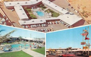 LANCASTER, CA California  CARAVAN INN MOTEL  Roadside  POOL~50's Cars  Postcard
