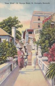 Bermuda St George's Rose Walk At The St George Hotel 1938