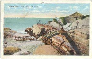 Sunset Cliffs, San Diego, California, CE, 1923 White border
