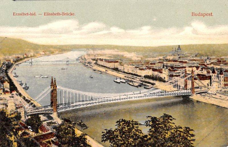 Elisabeth Brucke Budapest Republic of Hungary Unused