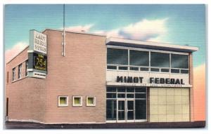 Mid-1900s Minot Federal Savings and Loan, Minot, ND Postcard