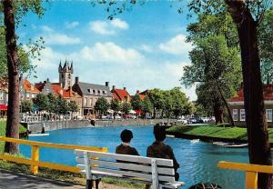 Netherlands Sluis Kade Bench River Street Cars Voitures