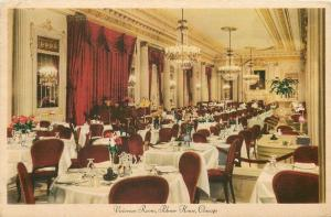 Chicago: Ruby Red Curtains, Chairs~Chandeliers @ Palmer House Victorian Room