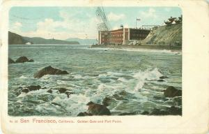 1905 Fort Point and Golden Gate, San Francisco, California Postcard