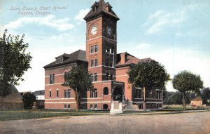 Lane County Court House Eugene Oregon 1910c postcard