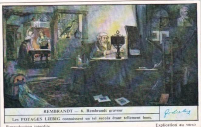 Liebig Trade Card S1481 Rembrandt II No 6 Rembrandt graveur