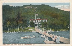 Boat Dock at Hotel Uncas - Lake George NY, New York - pm 1916 - WB