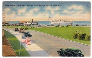View Across Ocean Park, showing Boats Arriving at Oak Bluffs, Mass