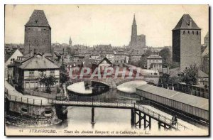 Postcard Old Strasbourg Tours Veterans Ramparts and the Cathedral