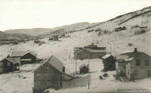 norway norge, GJEILO GEILO, Partial View with Gjeilo Hotel (1920s) RPPC Postcard