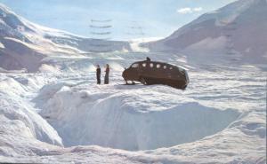 Snowmobile on Athabasca Glacier AB, Alberta, Canada - pm 1967