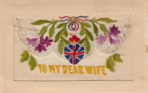 Hand Sewn, 1900-10s; To My Dear Wife, Flowers,  Insert