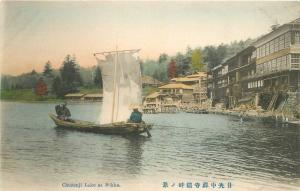 C-1910 Chuzenji Lake Nikko Japan Hand Colored postcard 7169