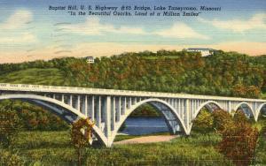 MO - Lake Taneycomo, Baptist Hill. U S Highway #65 Bridge