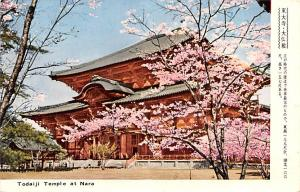 Japan Old Vintage Antique Post Card Todaiji Temple Nara Postal Used Unknown