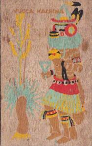 Hopi Indian Kachina Doll Yucca Veneer Card