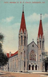INDIANAPOLIS, IN  Indiana      MERIDIAN ST. M.E. CHURCH      c1910's Postcard