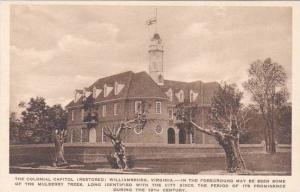 Virginia Williamsburg The Colonial Capitol Albertype