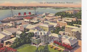 Bird's Eye View, City of Hamilton and Harbor, Bermuda, 30-40s