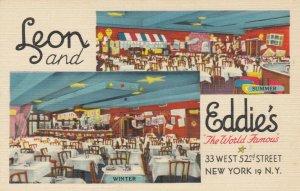 NEW YORK CITY , 1930-1940s, ; Leon and Eddie's