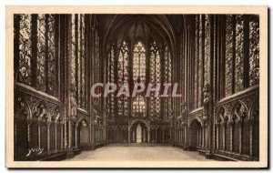 Old Postcard Paris Sainte Chapelle