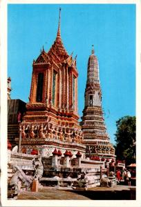 Thailand Bangkok Mondop and One Of Four Minor Phra-Prang Of Wat Aroon 1981