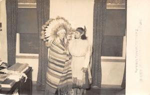 Tahlequah OK Cherokee Woman From Sequoyah Weavers Assn~Blanket~Girl RPPC c1950