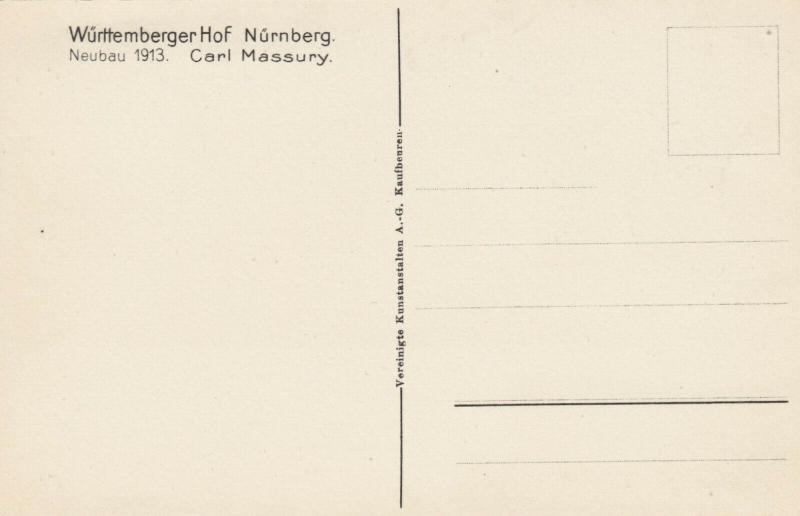 NURNBERG , Germany , 1900-10s ; Wurrtemberger Hof