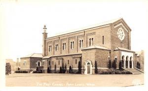 Fort Lewis Washington~Army Post Chapel~1940s Real Photo Postcard~RPPC